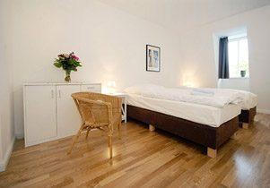 Berlin-Mitte Apartments Dachgeschoss Schlafzimmer