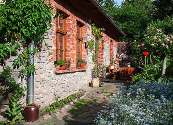 Garten b Ferienwohnung im Fachwerkhäuschen im Harz Ref. 5864-1