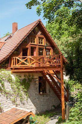 Giebel mit Balkon Ferienwohnung im Fachwerkhäuschen im Harz Ref. 5864-1