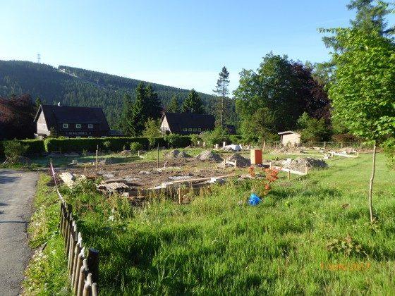 Das Grundstück mit Sicht zum Bocksberg