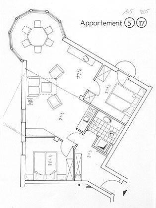 Grundriss 105 Juist Turm - Ferienwohnung REF: 50957