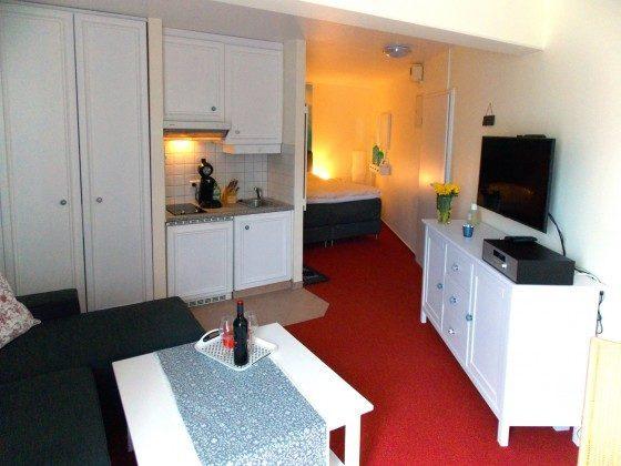 Inselresidenz Strandburg Wohnung 208 Wohn-/Schlafbereich