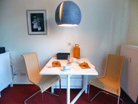 Inselresidenz Strandburg Wohnung 208 Esstisch