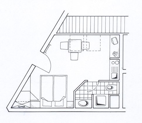 Grundriss Juist Studio 309 Strandburg REF 50976