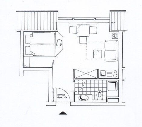 Grundriss Juist Apartment 310 Strandburg REF: 50977