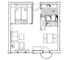 Grundriss  Ferienwohnung Juist-Ref 52044