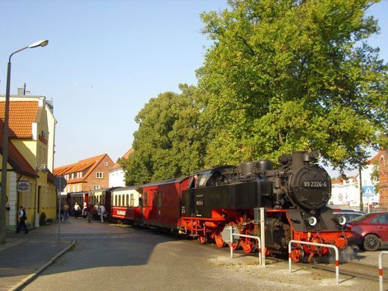 "Die Traditionsdampfbahn ""Molli"" in Bad Doberan."