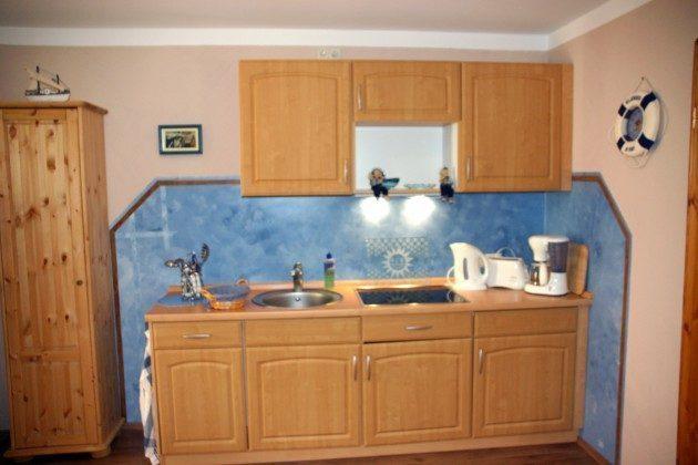Warnemünde Apartment Fischer un sin Fru Küchenzeile
