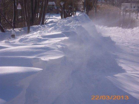Winterlandschaft in Lancken