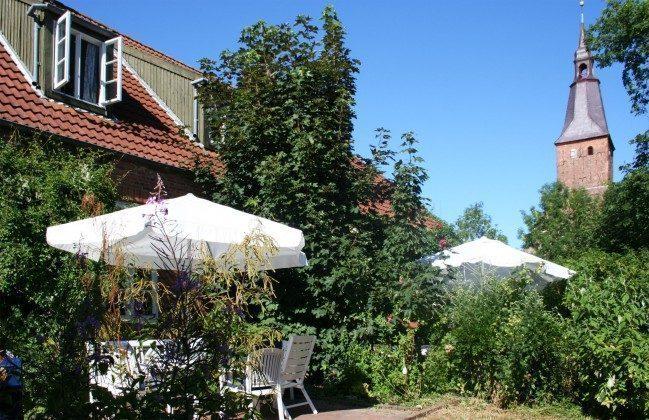 Terrasse Ferienhaus Alte Schule Tetenbüll nahe St. Peter Ording Ref. 2610-1