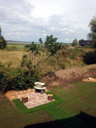 Grillplatz Uferschwalbe Dünengras Ostsee Ferienwohnungen unter Reet Ref: 109908-5
