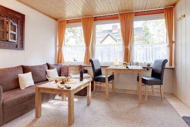 Ostsee Fischland Darss Ferienhaus am Strand - Wohnzimmer und Essbereich - 2662-2