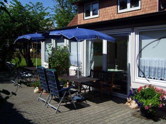 Ostsee Fischland Darss Ferienhaus am Strand - Gartenterrasse - 2662-2