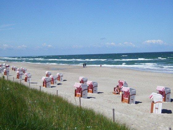 Ostsee Fischland-Darß Ferienhaus am Strand - Strandkörbe - 2662-3