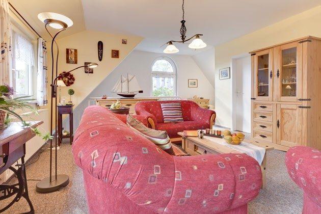Ostsee Fischland-Darß Ferienhaus am Strand - Sitzbereich im Wohnzimmer - 2662-3
