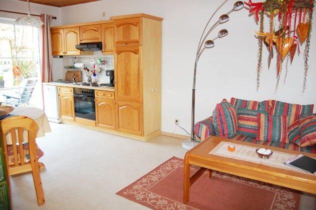 Ostsee Darss Fischlandhaus - Wohnung 1 - Küche und Wohnbereich - 2662-4