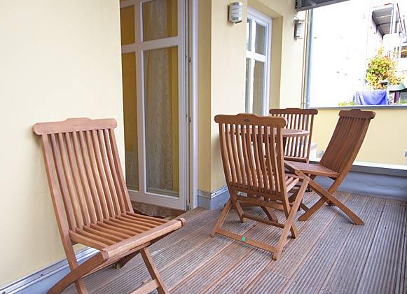 Terrasse Warnemünde Ferienwohnung Ref. 122888-1