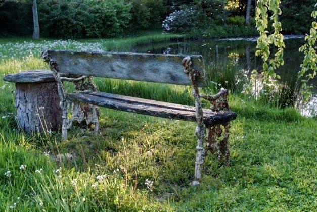 Refugium im Norden. Abendsonne am Teich