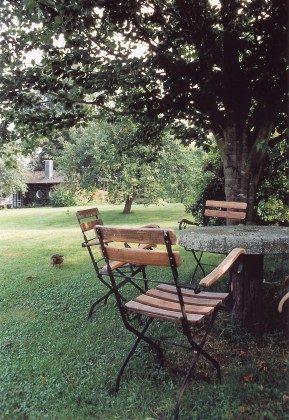 Refugium im Norden. Sitzecke im Garten