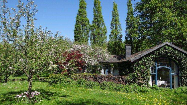 Gartenhaus im Frühling