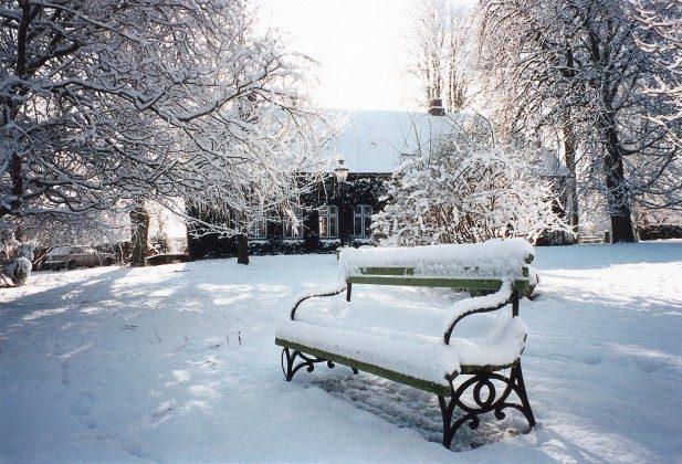 Refugium im Norden. Haupthaus im Winter