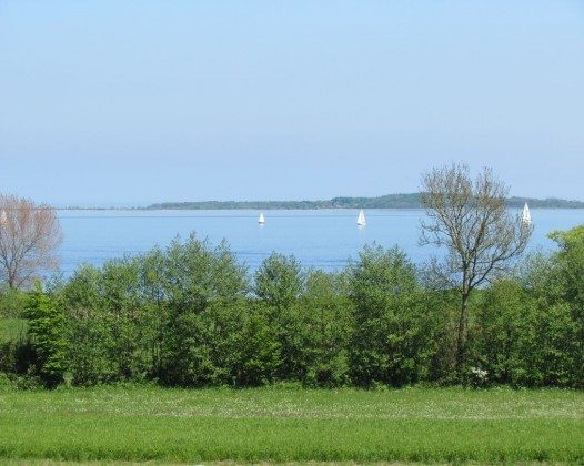Blick von der Terrasse - ruhige See