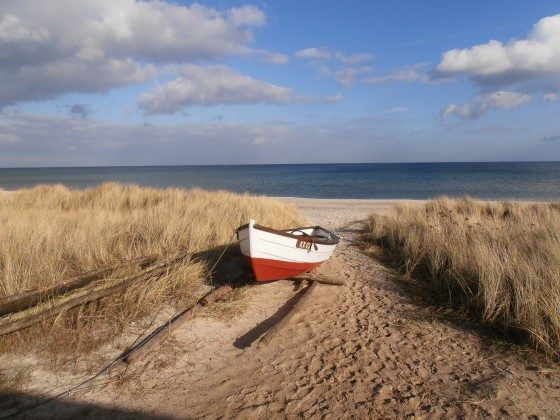 Strandspaziergänge im Frühjahr am endlosen Strand