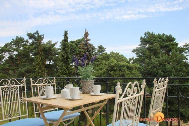 Balkon mit Blick auf Wald und Meer Baabe Ferienwohnung Strandlöper C 2.02 Ref. 134796