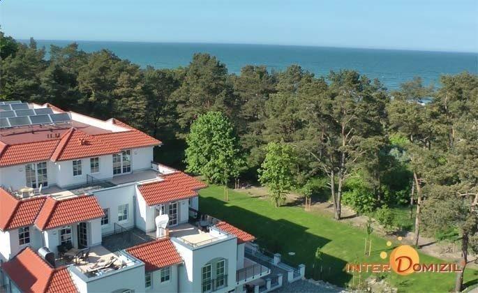 Blick vom Haus Meeresblick aufs Meer  Ferienwohnung Strandkrabbe A 3.16 Ref. 159955-1