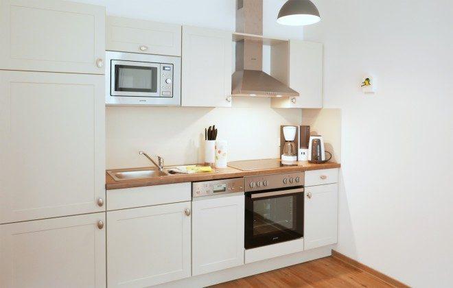 """Küchenbereich Ferienwohnungen Baabe """"Arkona"""" im Aparthotel Inselparadies"""