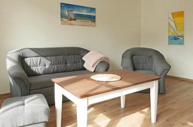 Wohnbereich  Ferienwohnung Baabe Inselparadies Muschelgrund