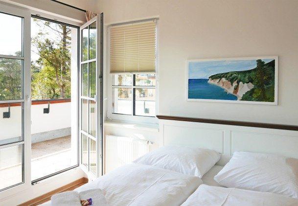 Schlafzimmer  Ferienwohnung Baabe Leuchtturm Turmzimmer