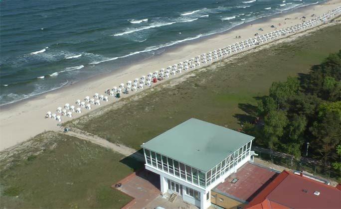 Der Mütherbau am Strand