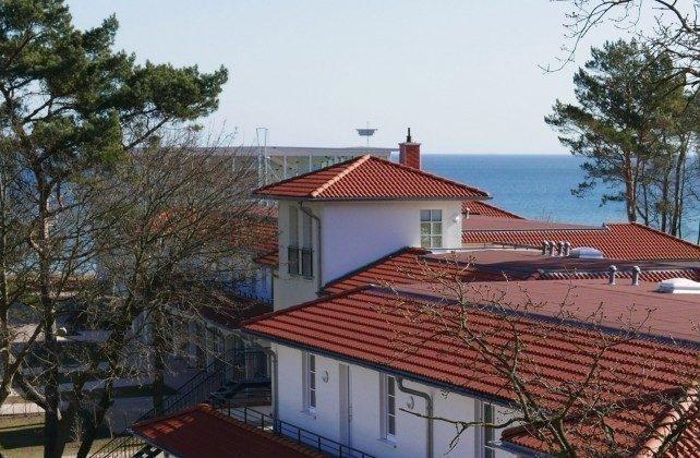 Blick auf das Aparthotel Inselparadies