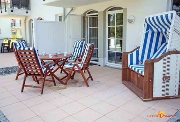 Terrasse Sanddornstübchen Haus Meeresblick in Baabe