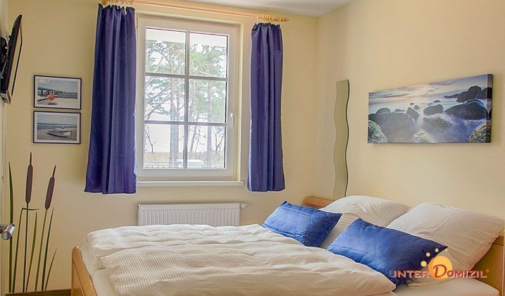 Schlafzimmer Baabe Ferienwohnung Seeterrasse A 0.08 Ref. 128664