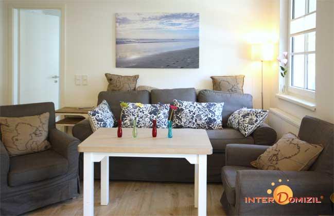 Wohnbereich  Haus Meeresblick mit Blick auf die Fewo Strandwohnung mit Meerblick Ref. 128668