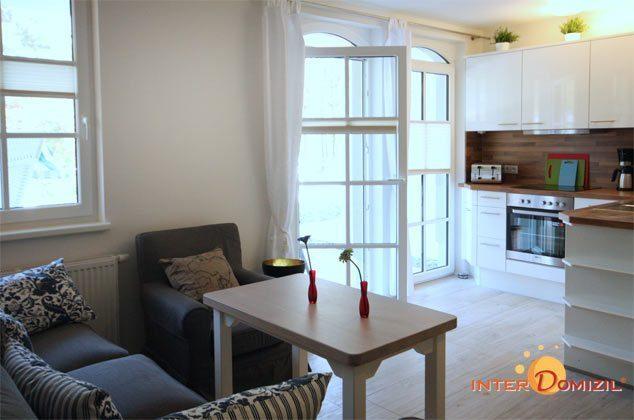 Küche umd Wohnzimmer Baabe Haus Meeresblick Fewo Strandwohnung mit Meerblick Ref. 128668