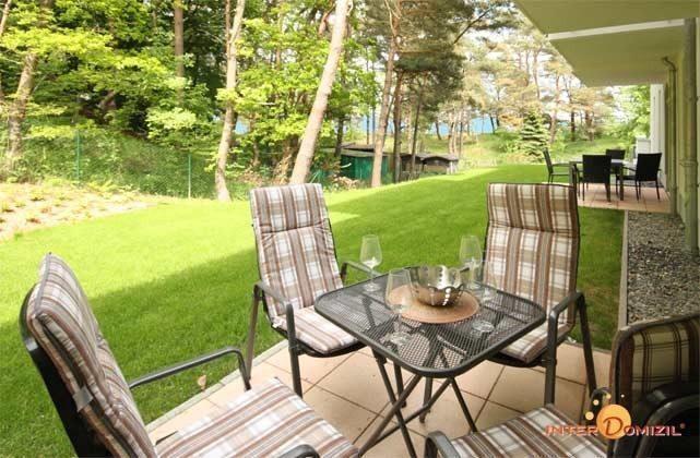 Terrasse aussen Baabe Ferienwohnung Ostseeperle A 0.13