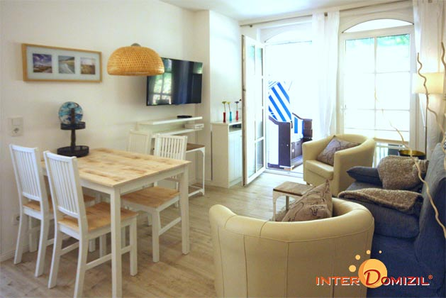 Terrasse Haus Meeresblick Baabe Ferienwohnung Stranddüne Ref. 128671