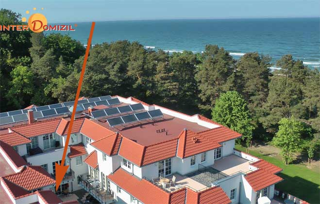 Lage im Haus Meeresblick Baabe Ferienwohnung Strandnah A 1.07 Ref. 128675