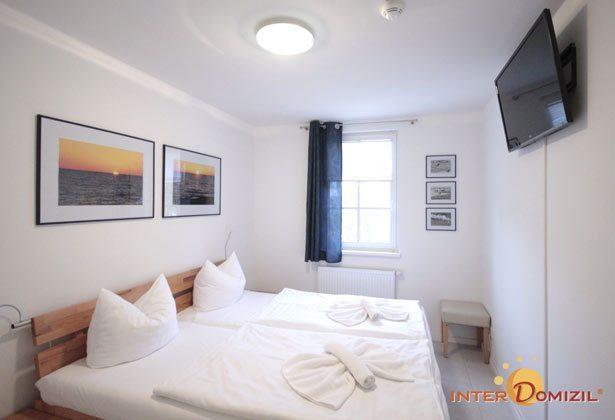 Schlafzimmer 1 Haus Meeresblick Ferienwohnung Morgensonne