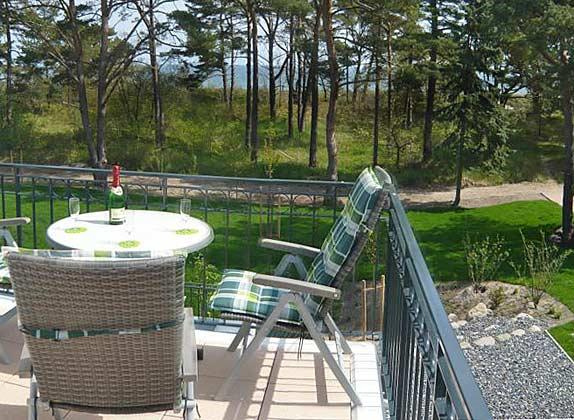 Balkon mit Meerblick Haus Meeresblick Ferienwohnung Morgensonne