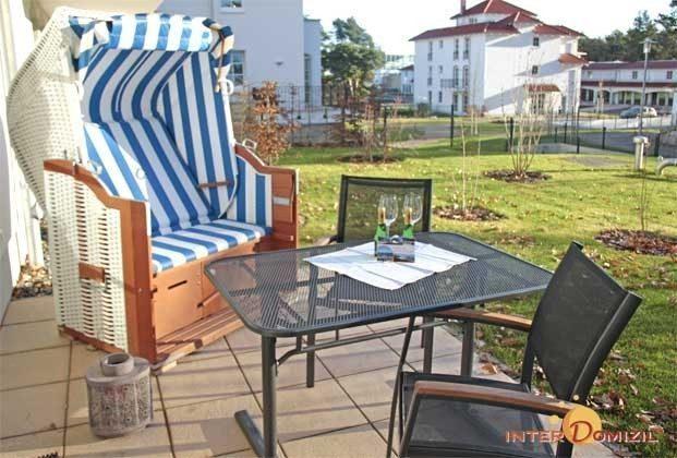 Wohnbereich Baabe Haus Meeresblick Ferienwohnung Kranich Ref. 128688-T
