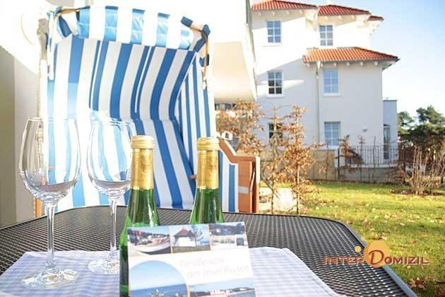 Strandkorb Haus Meeresblick Baabe Ferienwohnung Kranich Ref. 128688-T