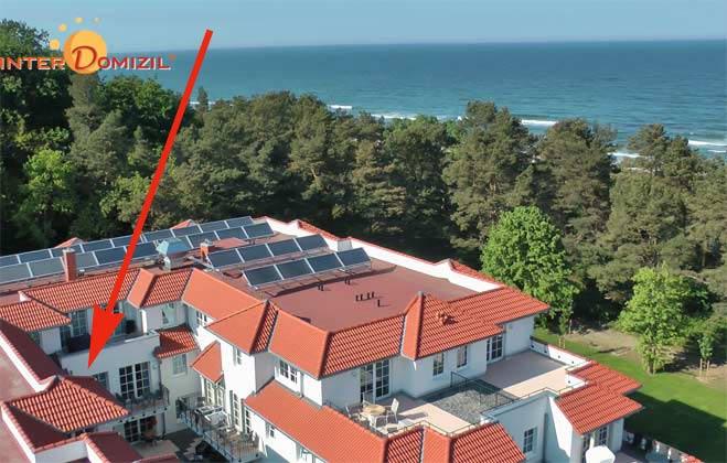 Lage im Haus Meeresblick und Lage von Baabe Fewo 128695 Baabe