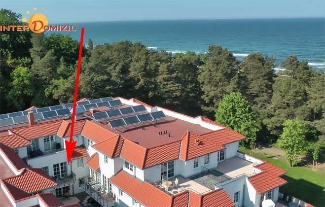 Lage im Haus Meeresblick Rügen Ferienwohnung Windlicht A 2.08 Ref. 128696
