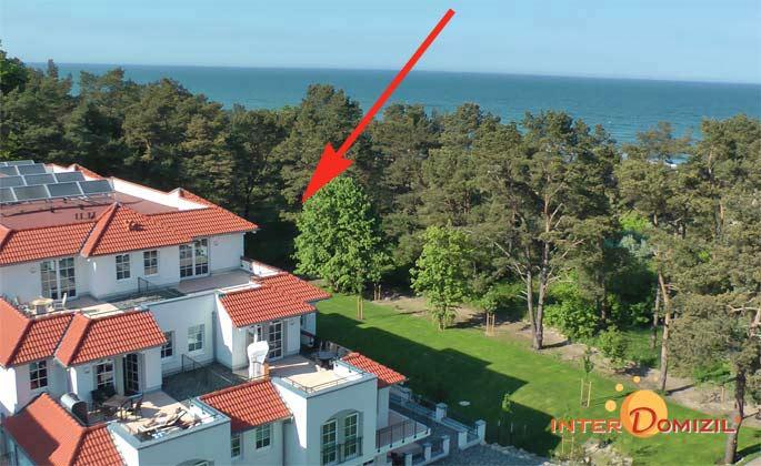 Seitenansicht Haus Meeresblick Baabe