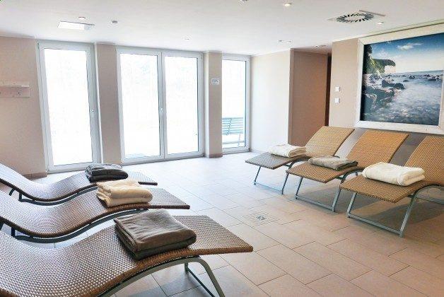 Ruhebereich Sauna im Haus Meeresblick Baabe auf Rügen