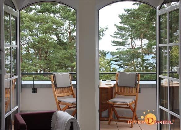Blick zum Balkon Baabe Ferienwohnung Meerblick A 2.15 Ref. 128699